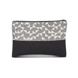 Anni Albers grey Intaglio make-up bag