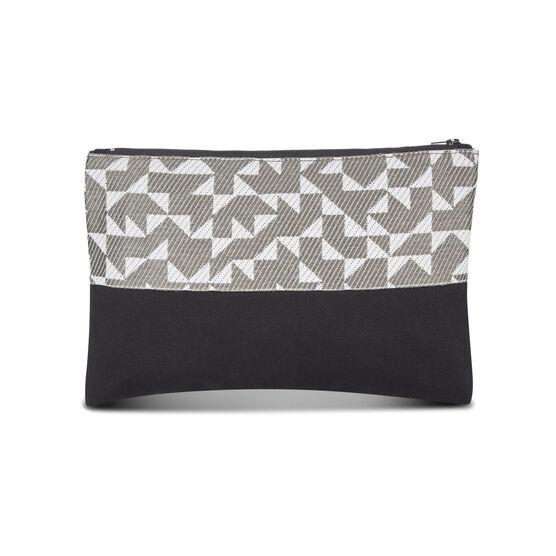 Anni Albers grey Intaglio make-up bag