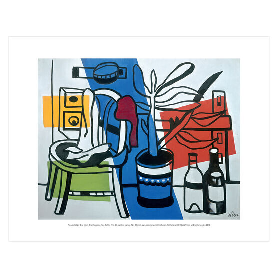 Fernand Léger: One Chair, One Flowerpot, Two Bottles mini print