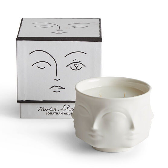Surrealist blanc candle