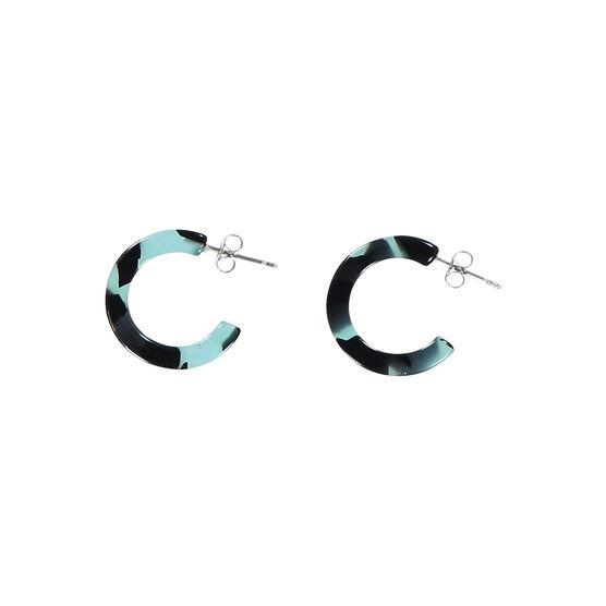 Shanghai green mini hoop earrings