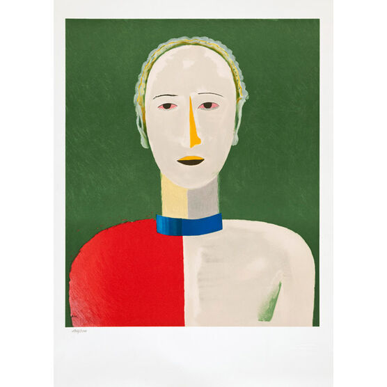 Atelier Mourlot Malevich Portrait of a Female (1992 lithograph)