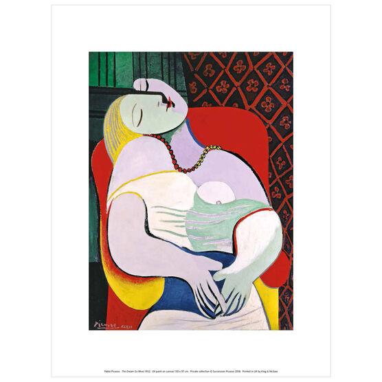Pablo Picasso: The Dream exhibition print