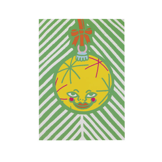 Lou Mathian Lonely Christmas Bauble Christmas cards (pack of 6)
