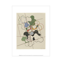 Sophie Taeuber-Arp Geometric and Undulating exhibition art print