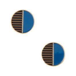 Tom Pigeon circle enamel earrings