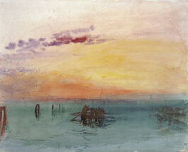 Turner: Looking Across the Lagoon at Sunset