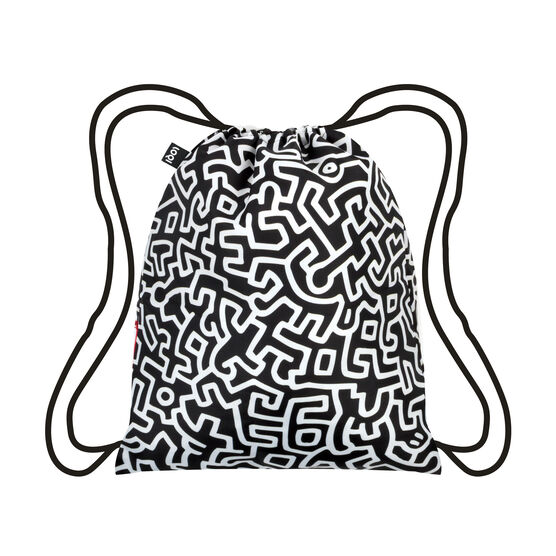 Keith Haring pattern backpack