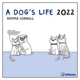 A Dog's Life by Gemma Correll 2022 wall calendar