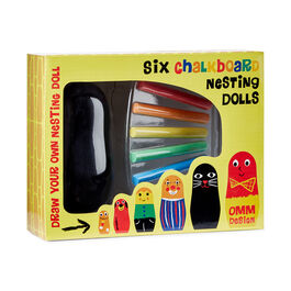 Create your own chalkboard matryoshka kit