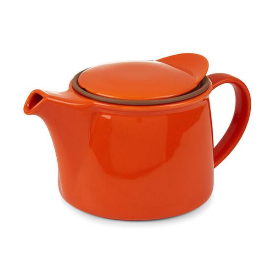 Kinto vermilion porcelain brim teapot