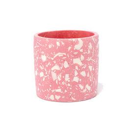 Pink terrazzo plant pot