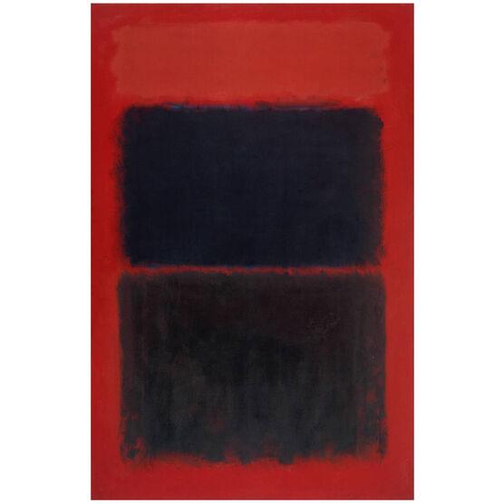Rothko Light red over black screenprint