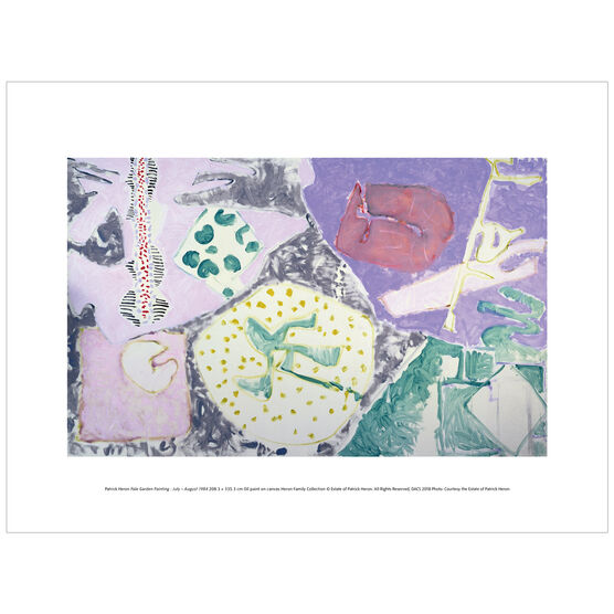 Patrick Heron: Pale Garden Painting : July - August 1984 exhibition print