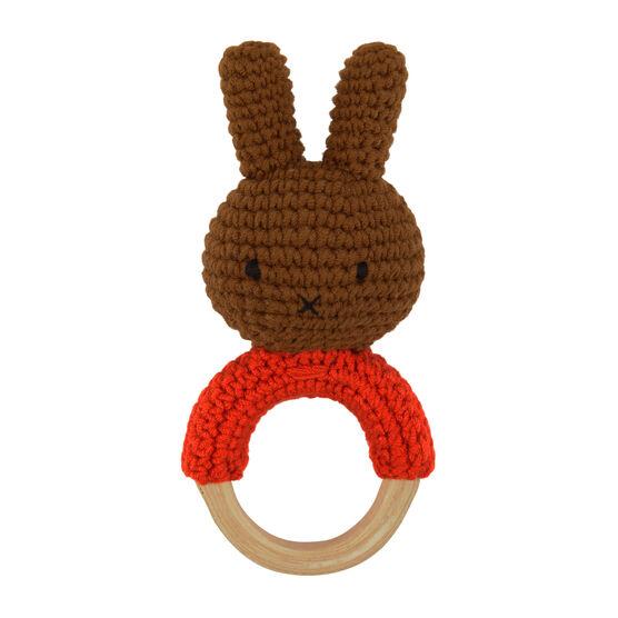 Melanie red handmade ring rattle