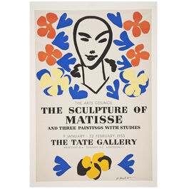 Henri Matisse: The Sculpture of Matisse 1953 vintage poster