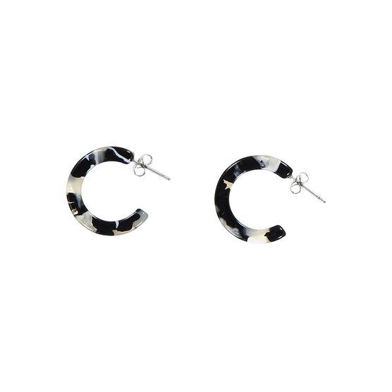 Antwerp grey mini hoop earrings