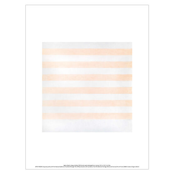 Agnes Martin Happy Holiday (unframed print)