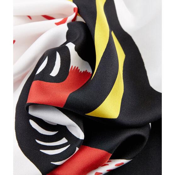 Antonio Dias atomic cloud silk scarf