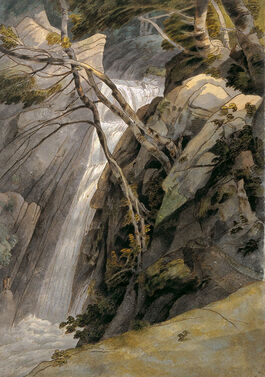 Towne: Waterfall near Ambleside