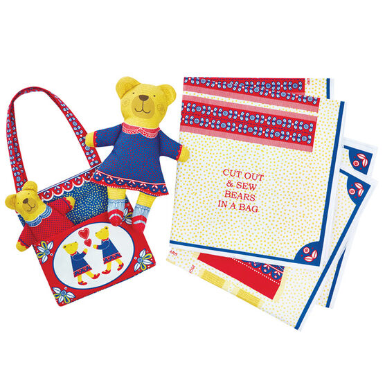 Alice Melvin Cut and Sew Bears bag