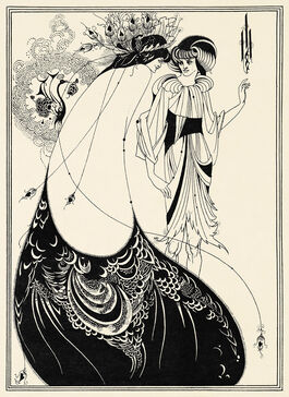 Aubrey Beardsley: The Peacock Skirt