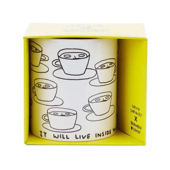 David Shrigley The Tea is Alive mug