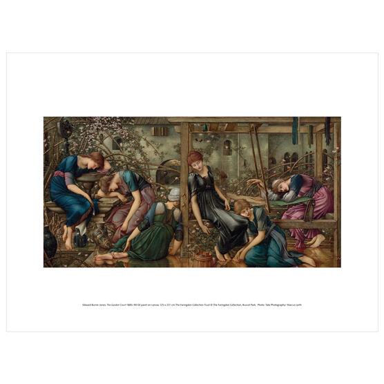 Edward Burne-Jones: The Garden Court exhibition print