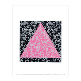 Keith Haring: Silence = Death mini print