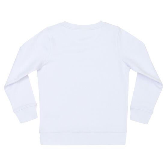 White kids' sweatshirt - back