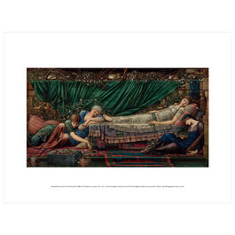Edward Burne-Jones: The Rose Bower exhibition print
