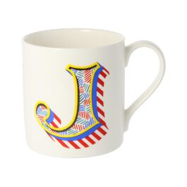 Alphabet of art mug - J