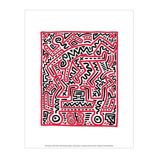 Keith Haring: Fun Gallery mini print