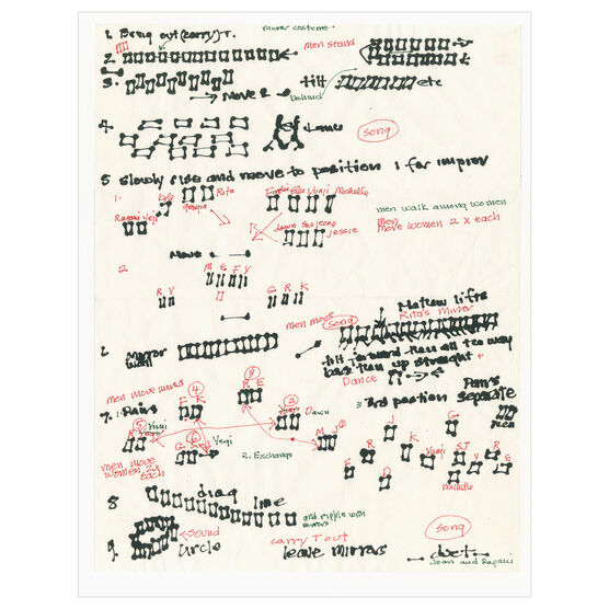 Joan Jonas, Score, Document of 2012 reconstruction of Mirror Piece I (1969), 2018