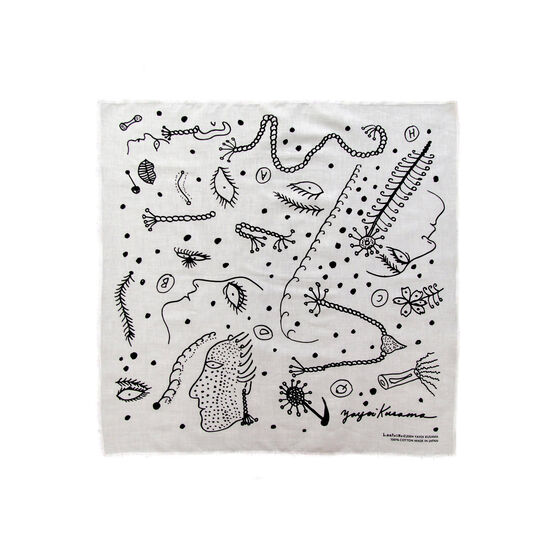 Yayoi Kusama black and white scarf