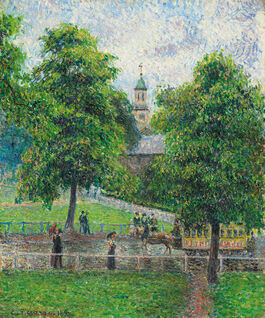 Pissarro: Saint Anne's Church in Kew, London