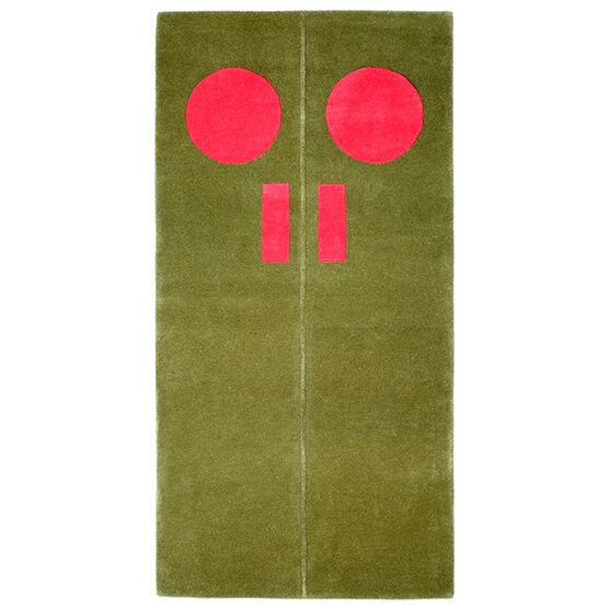 Gary Hume Door Rug - Red, Green