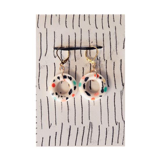 Ceramic Gelateria doughnut hoop earrings