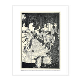 Aubrey Beardsley: The Battle of the Beaux and the Belles mini print