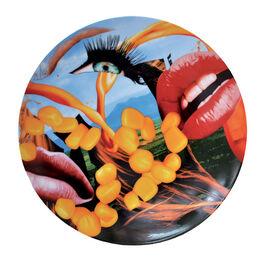 Jeff Koons Lips service plate