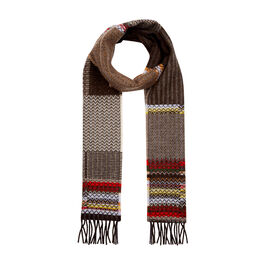 Triangle pattern wool scarf