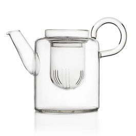 Piuma tall glass teapot