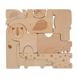Safari wooden animal blocks