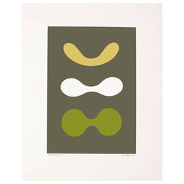Paule Vézelay, Contrasted Curves (Yellow/White/Green), 1970