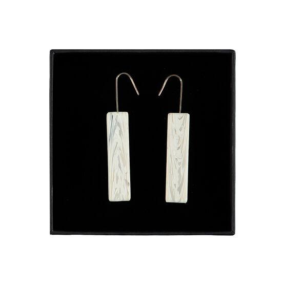 Recycled bar earrings