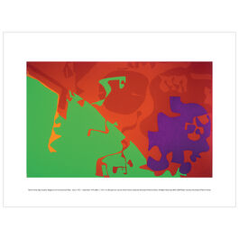 Patrick Heron: Big Complex Diagonal with Emerald and Reds : March 1972-September 1974 exhibition print