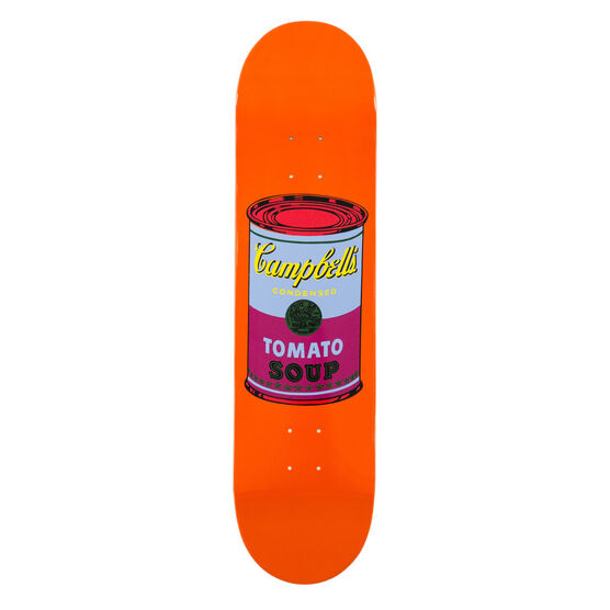 Warhol: Campbell's Soup Can skateboard - orange