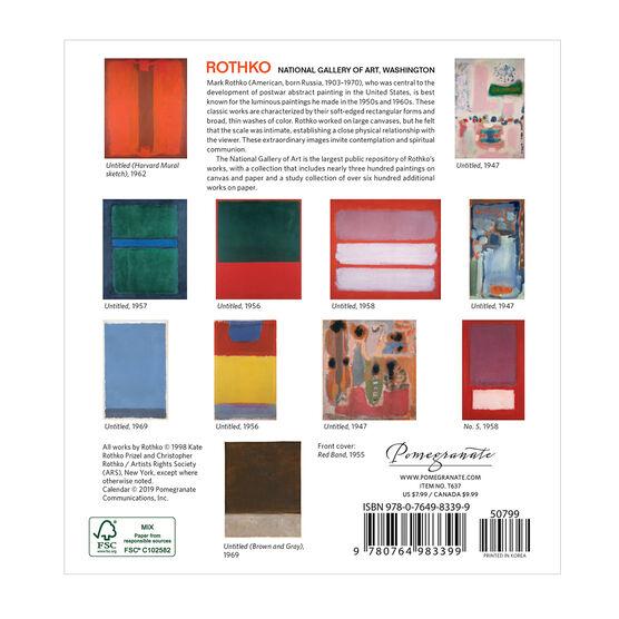 Mini Rothko 2020 calendar