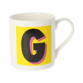 Alphabet of art mug - G