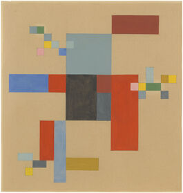 Sophie Taeuber-Arp: Vertical-Horizontal Composition on White Ground